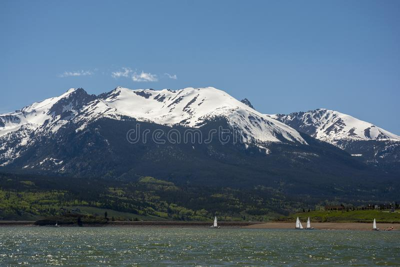 Red Peak Mountain in the Colorado Rockies.  stock photography