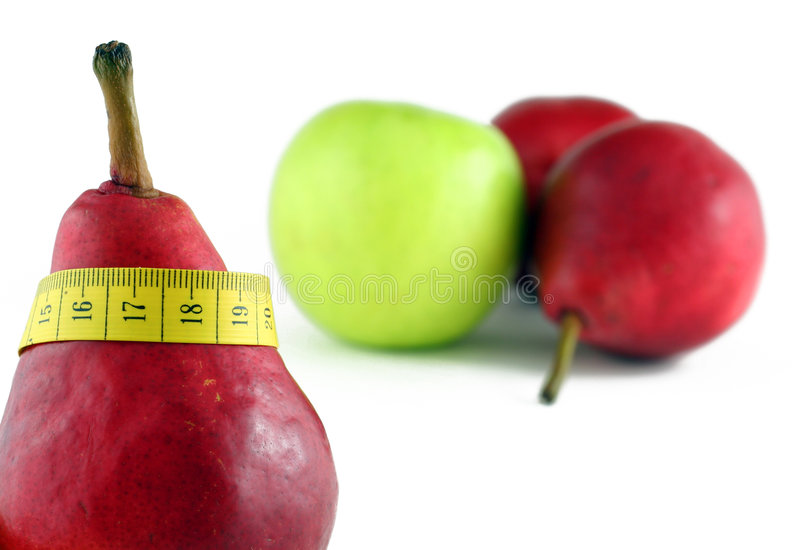 Download Red Pear With Tape-line Stock Photos - Image: 1611123