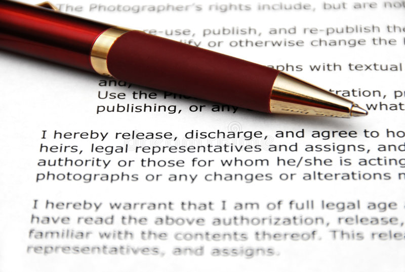 Download Red Pen and Contract stock photo. Image of contract, paper - 7681614