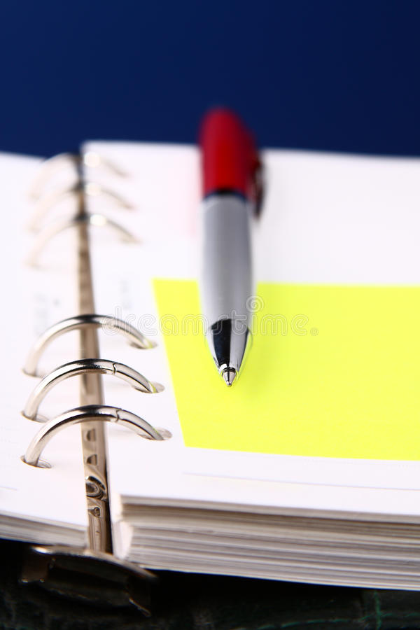 Download Red Pen On An Organizer With A Selective Focus Stock Photo - Image of financial, compact: 13523814
