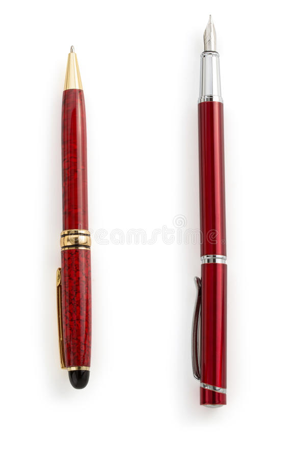Download Red pen  on white stock image. Image of office, black - 39503783