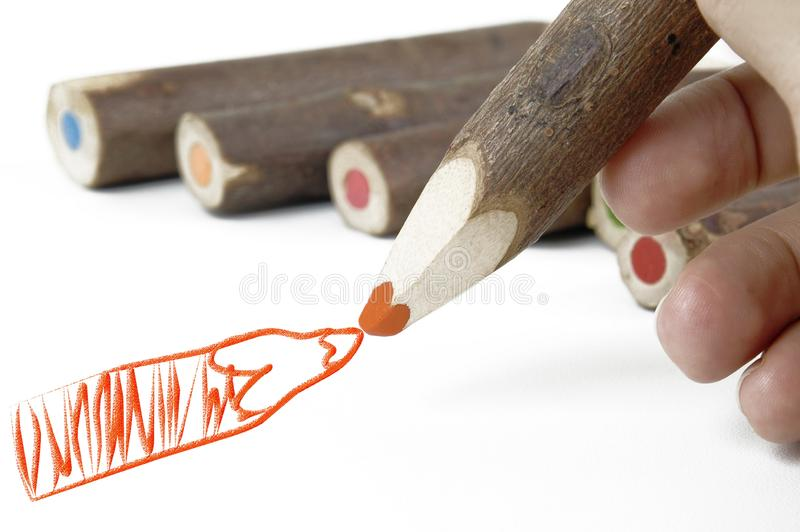 Red pencil stock photo