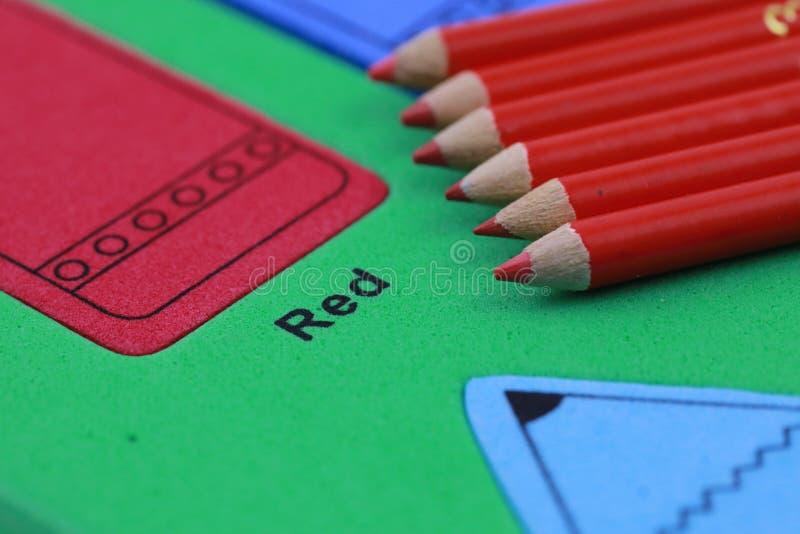 red pencil crayon royalty free stock photos
