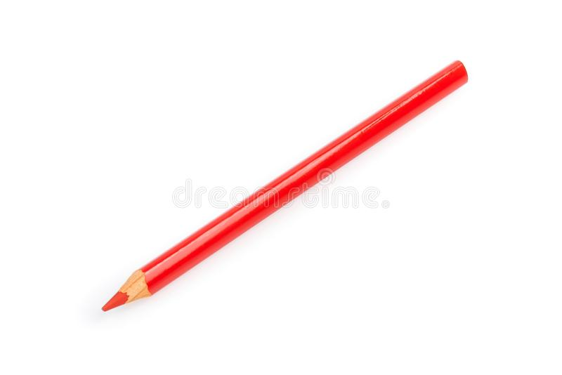 Red pencil isolated royalty free stock images