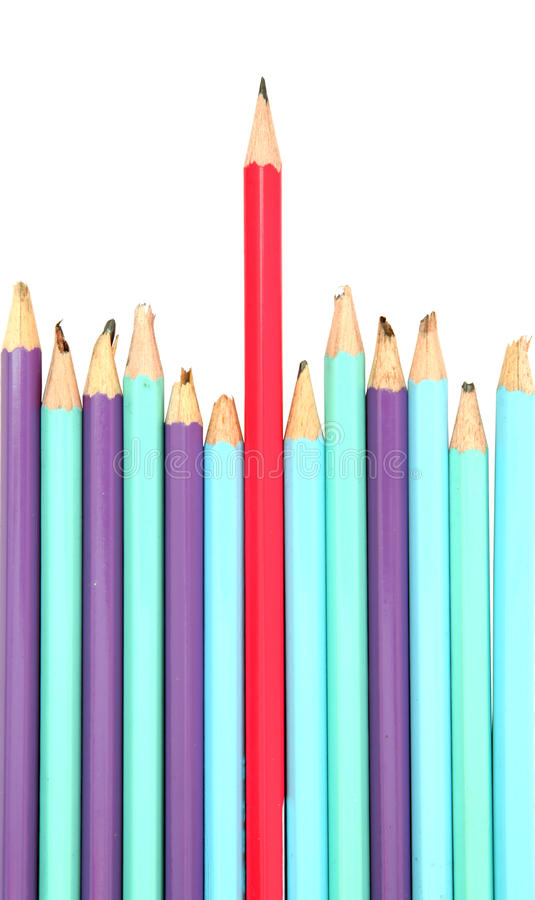 Download Red Pencil - The Leader Concept Stock Image - Image: 18560437