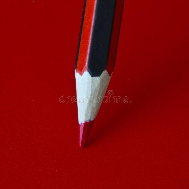 Red Pencil On A Red Surface Free Public Domain Cc0 Image