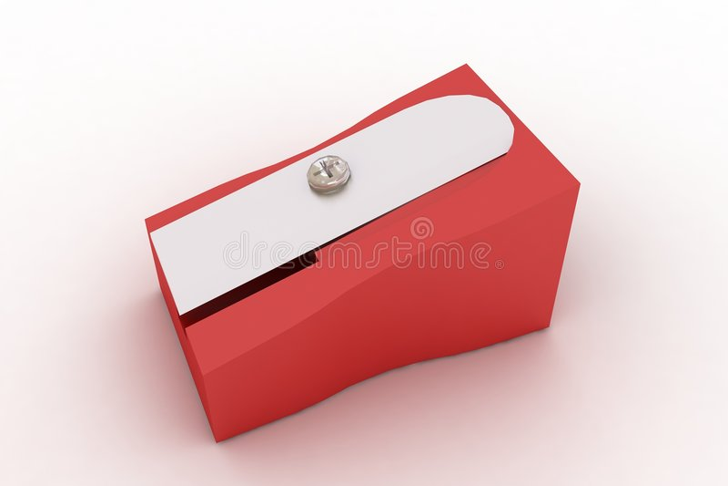 Red Pencil Sharpener Stock Image