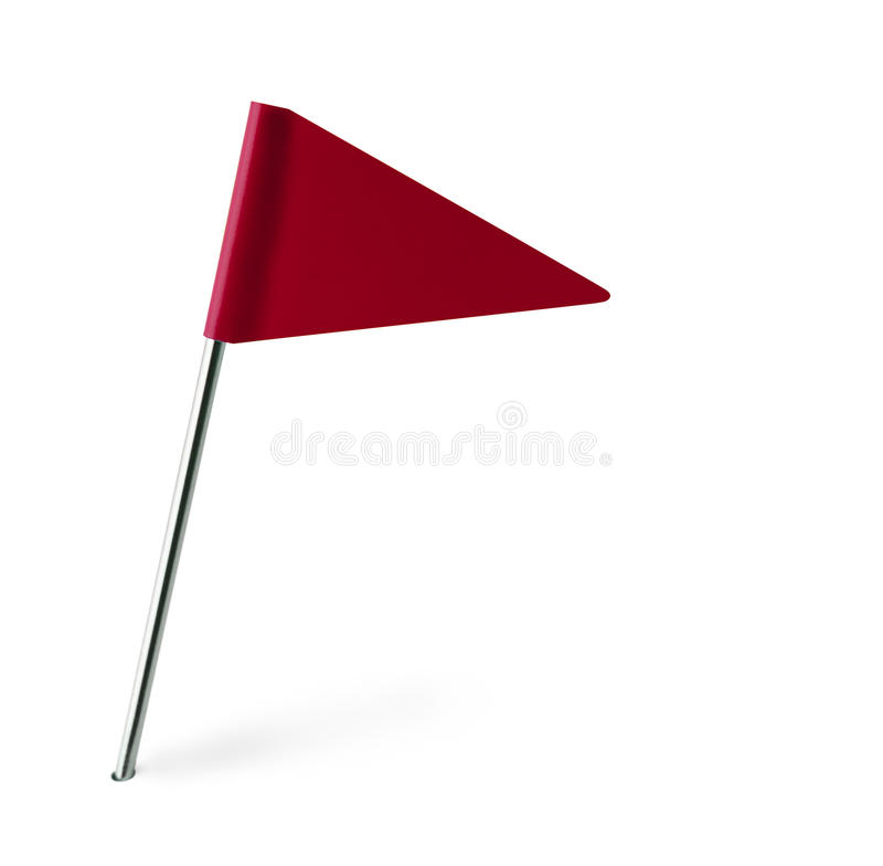 Red Pennant. Flag Isolated on White Background vector illustration