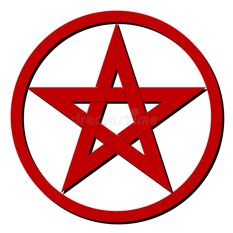 Free Red Pentagram Royalty Free Stock Photography - 29261497