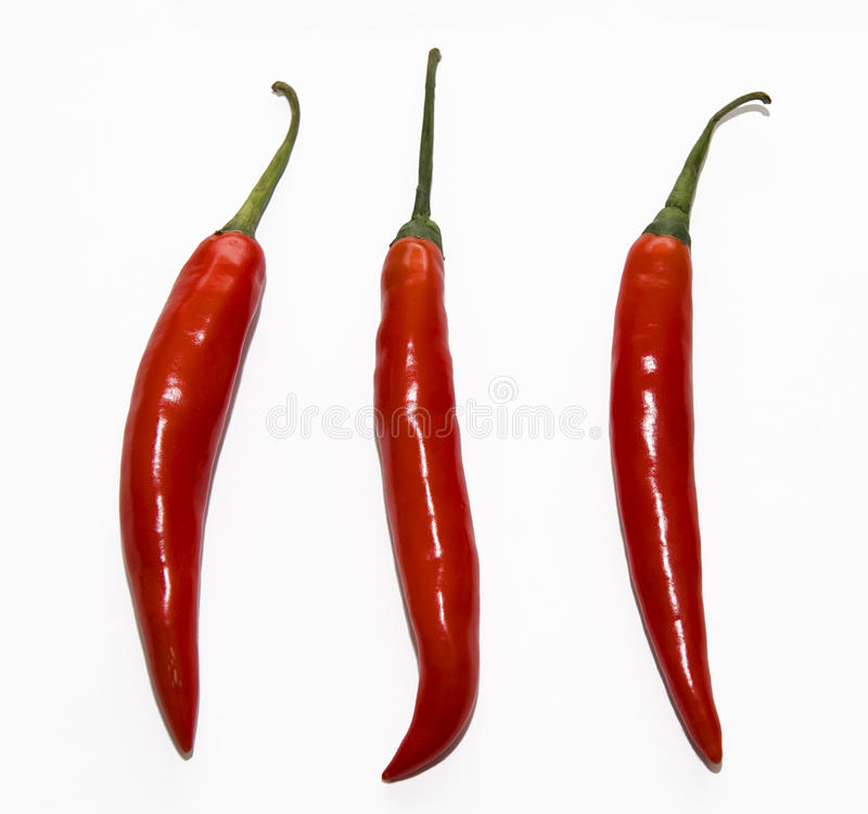 Red pepper. Mature red pepper, red color, bright, sweet flavor Xianla is a food that people really like.The sauce can be made fresh, can also be used as cooking royalty free stock photos