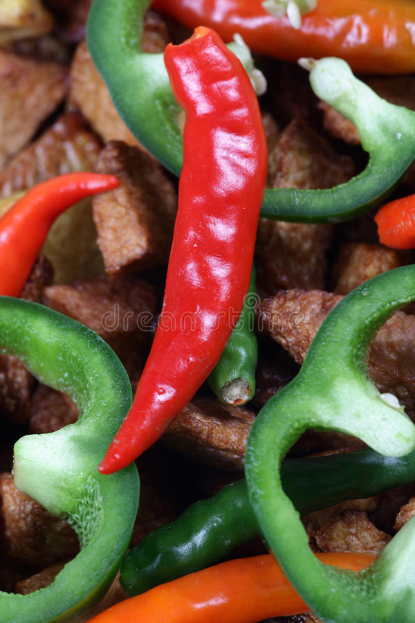 Red Pepper And Capsicum Royalty Free Stock Image