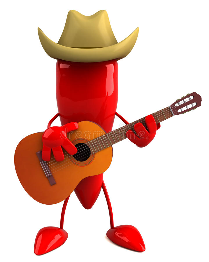 Download Red pepper cowboy stock illustration. Image of spice - 11631460