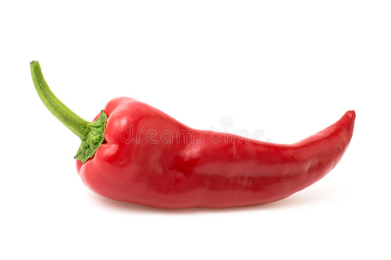 Red pepper isolated on white royalty free stock images