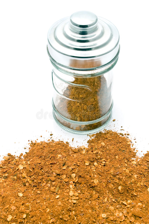 Download Red pepper powder in jar stock image. Image of mexican - 21825783