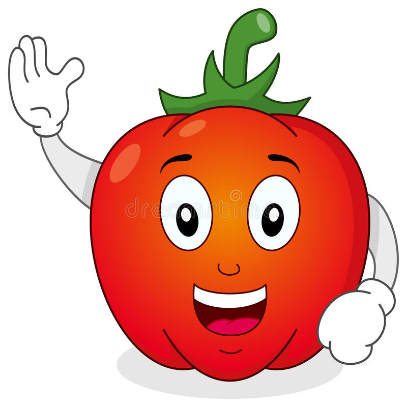 Download Red Pepper Vegetable Character Stock Vector - Image: 41159439