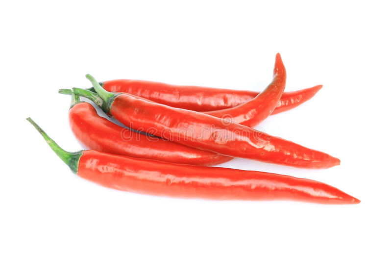 Red pepper on white background stock photo