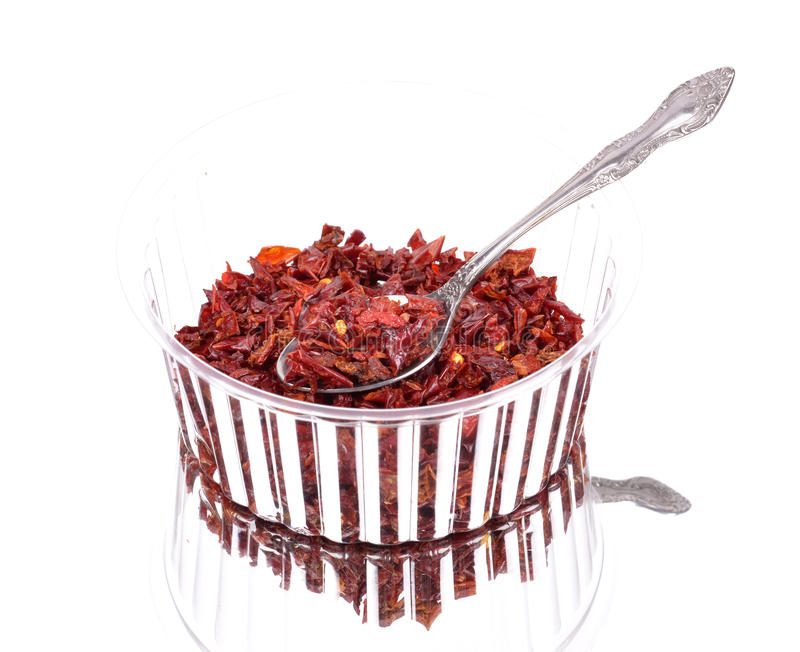 Red Peppers dried stock image