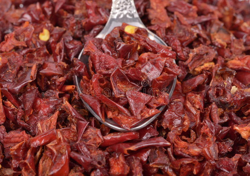 Red Peppers dried stock photography