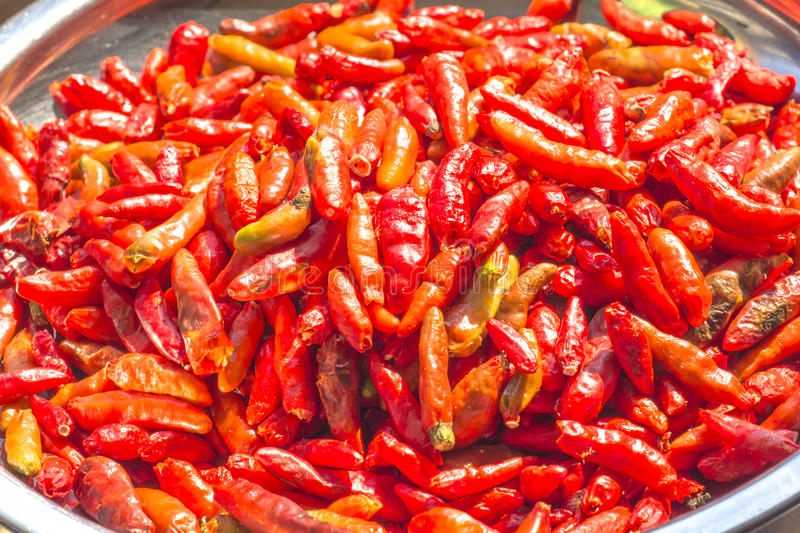 Download Red peppers are dried stock photo. Image of heat, chili - 64893608
