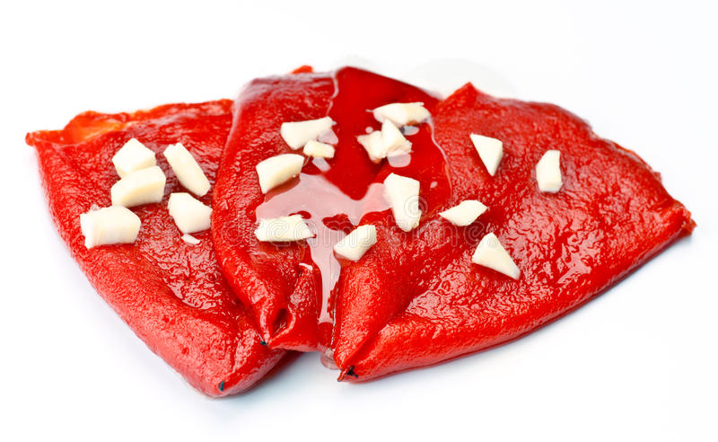 Red Peppers Washed Down Oil Royalty Free Stock Photo