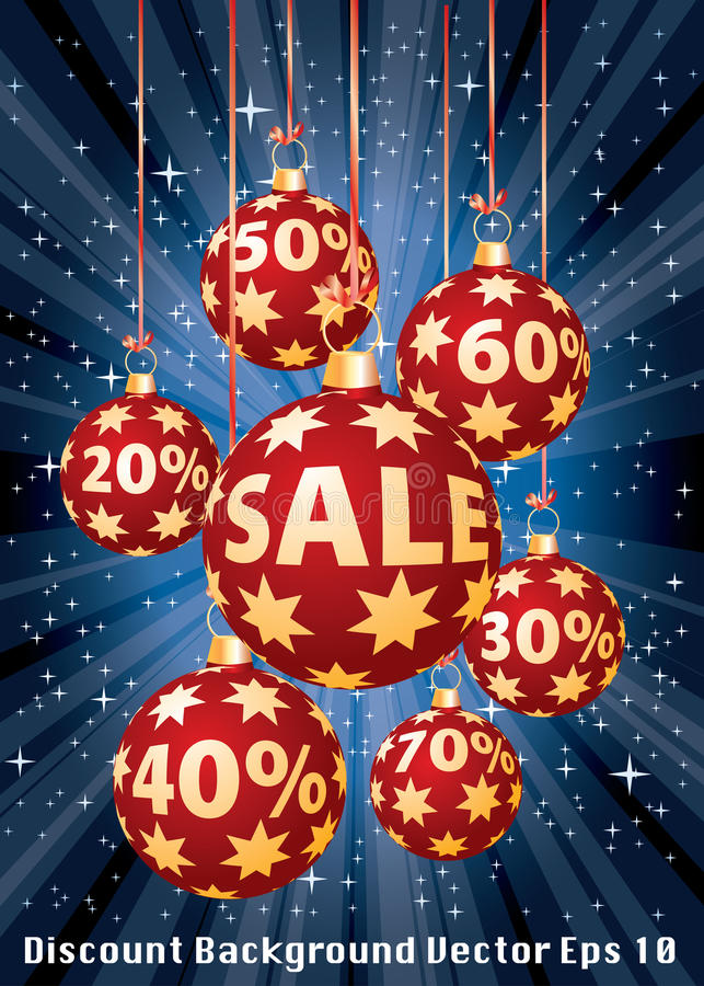Red percent balls vertical stock illustration