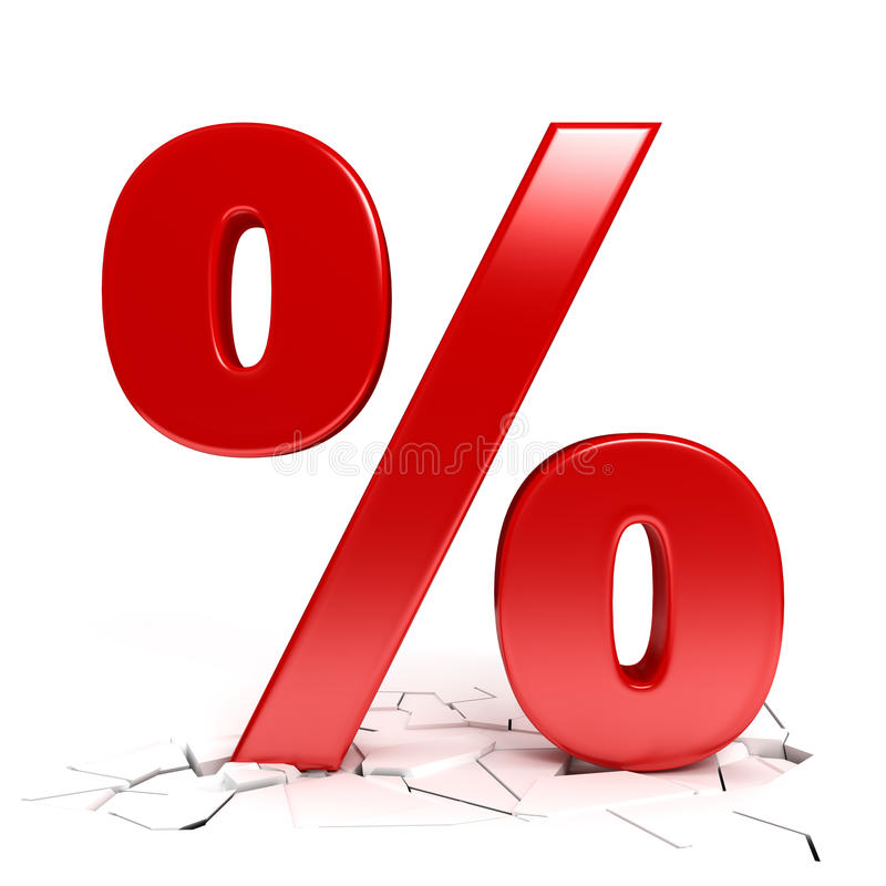 Download Red percent sign stock illustration. Image of rates, reduction - 40252529