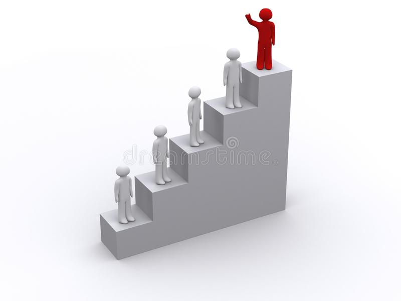 Download Red Person Gets First Place Stock Illustration - Image: 18902882