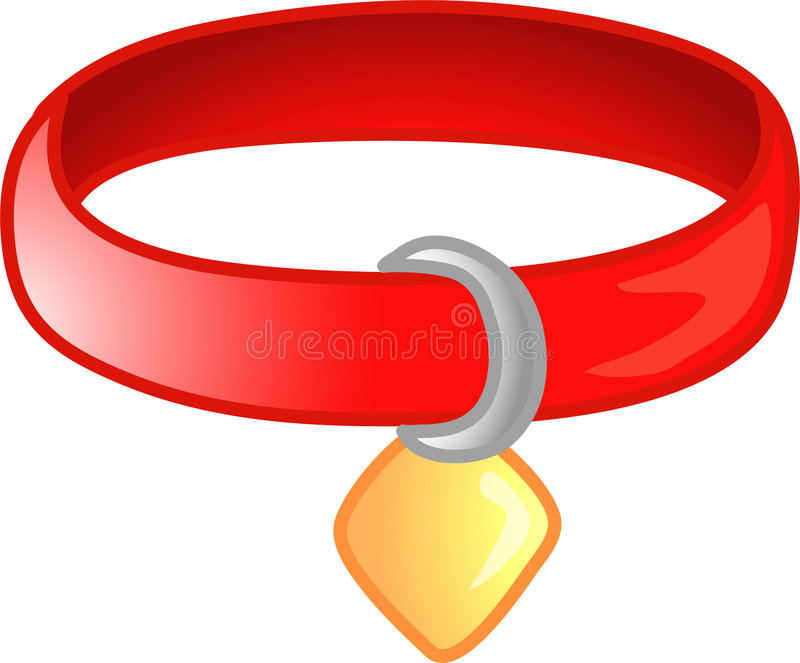 Red pet collar icon or symbol vector illustration