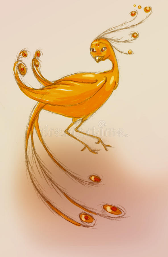Download Red phoenix stock illustration. Image of phoenix, antique - 17108637