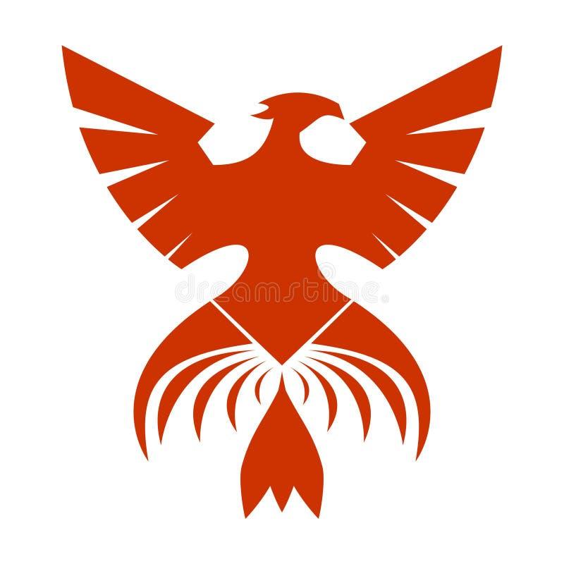 The Red Phoenix stock illustration