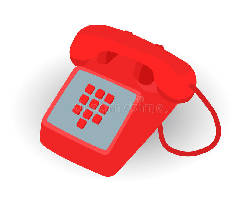 Download Red phone stock vector. Image of illustration, contact - 26134792