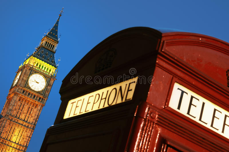Download Red phone box and Big Ben stock photo. Image of phone - 16090648