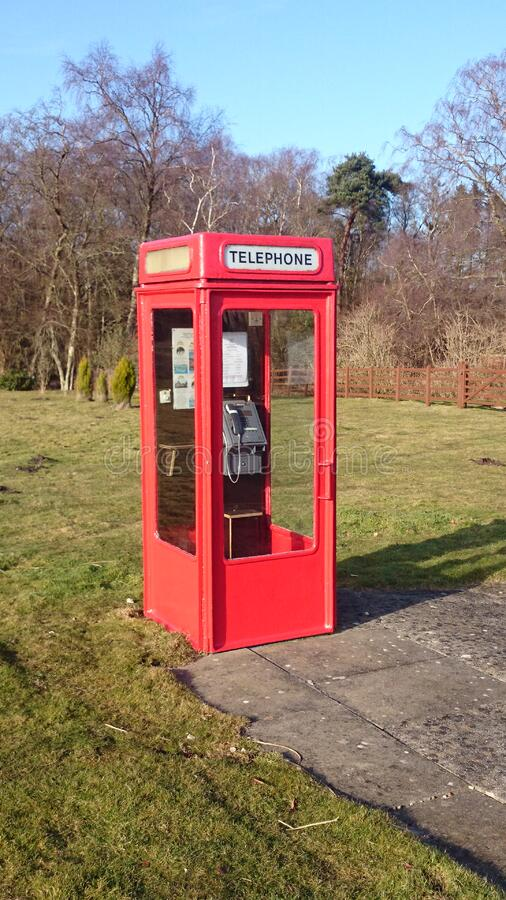 Red phone box stock photo