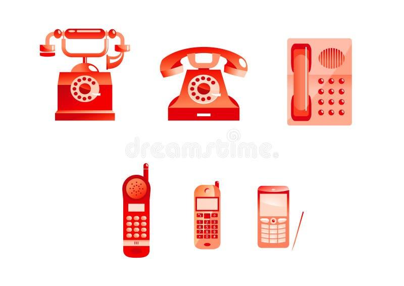 Red phones stock illustration