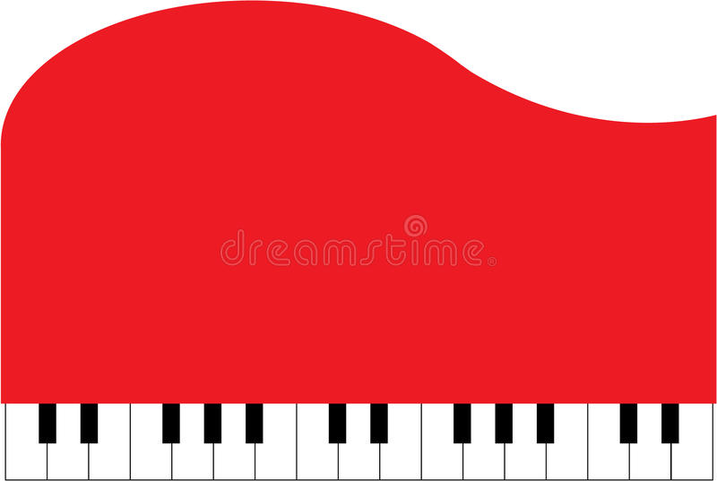 Download Red Piano stock vector. Image of white, note, music, piano - 14520544