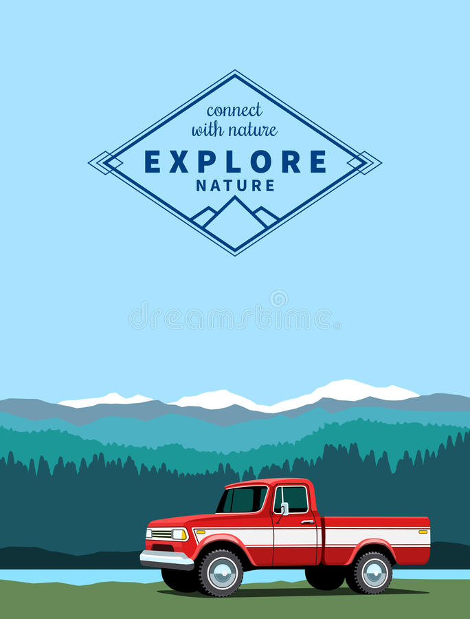 Free Red Pickup Truck Stock Image - 70156461