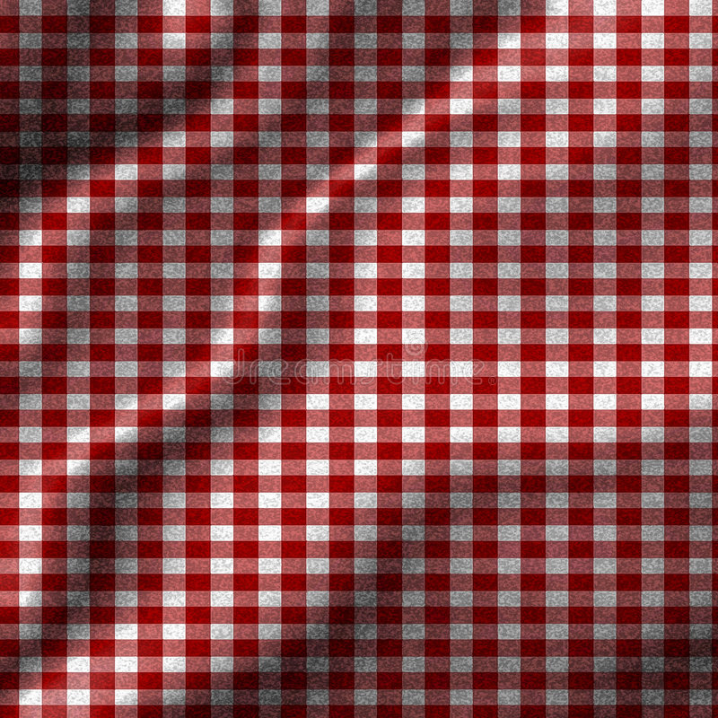 Red Picnic Cloth Stock Images