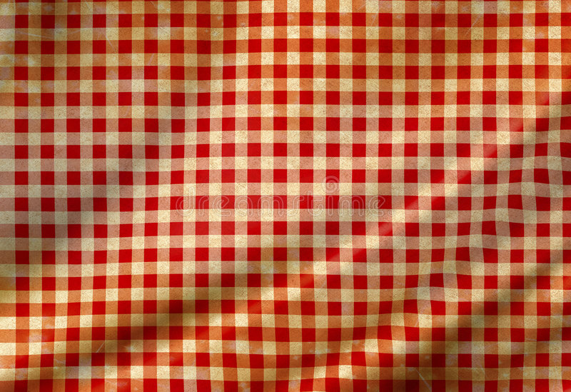 Download Red picnic cloth stock illustration. Image of table, linen - 7187995