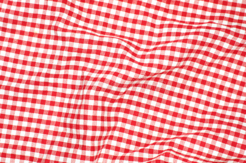 Red Picnic Cloth Stock Image Image Of Menu Geometrical
