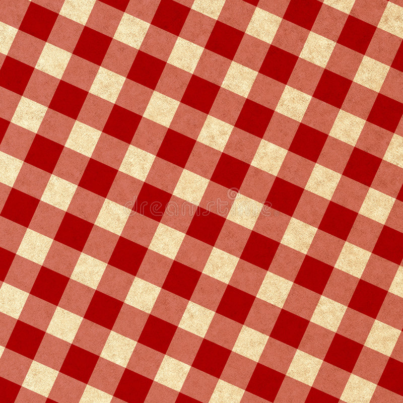 Red Picnic Fabric Royalty Free Stock Image