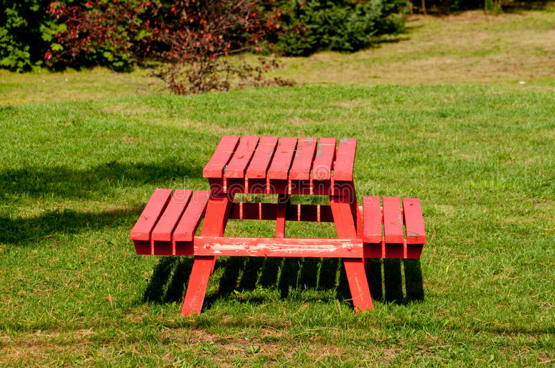 Download Red picnic table stock image. Image of picnic, grass - 21460205