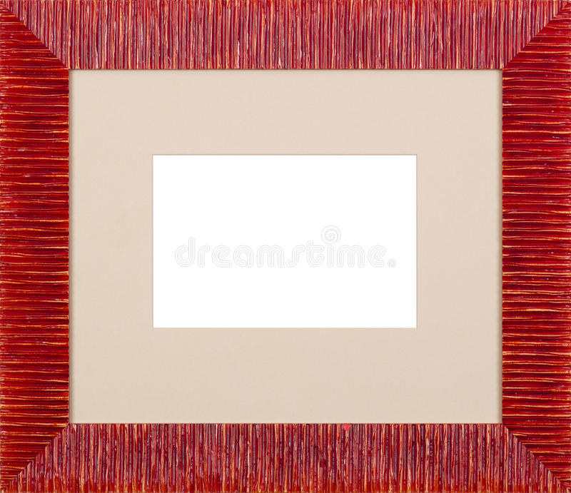 Red Picture frame stock image