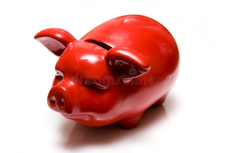 Red Piggy Bank Stock Image