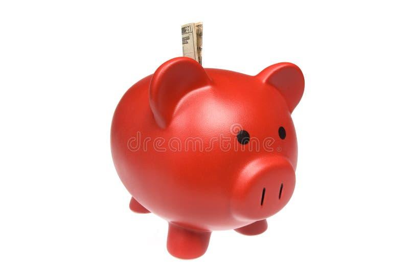 Red Piggy Bank royalty free stock photos