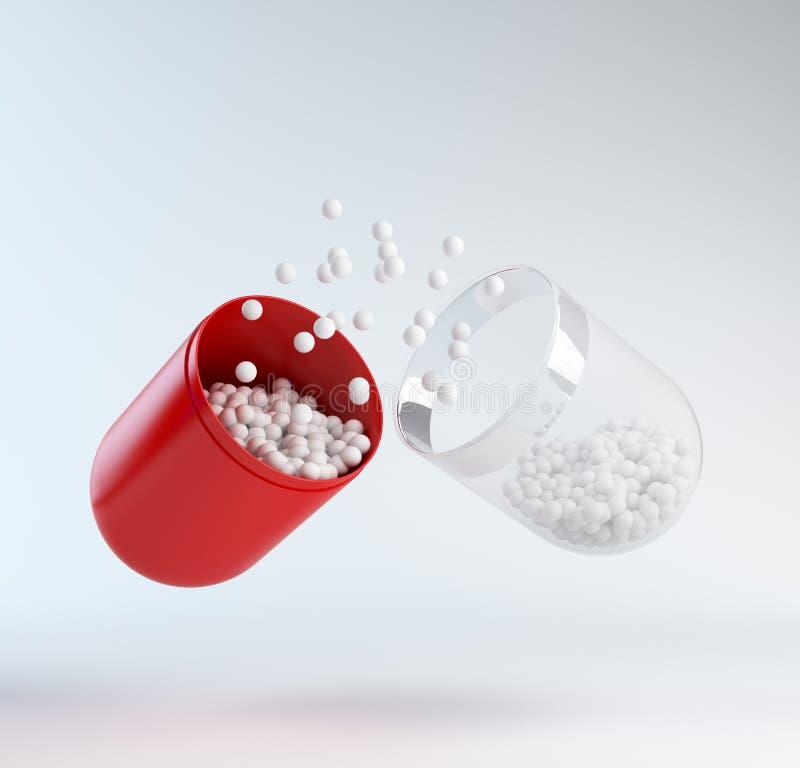 Red pill vector illustration