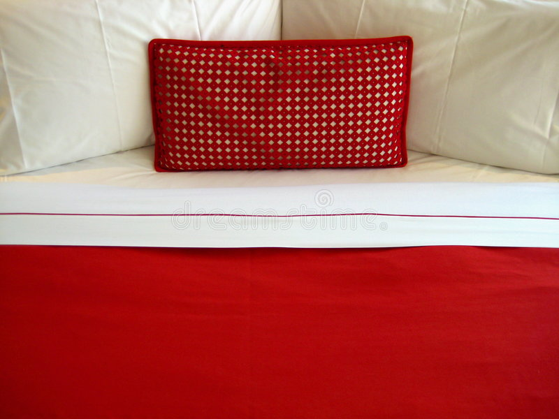 Download Red pillow stock image. Image of home, sheet, sleep, romantic - 7760599