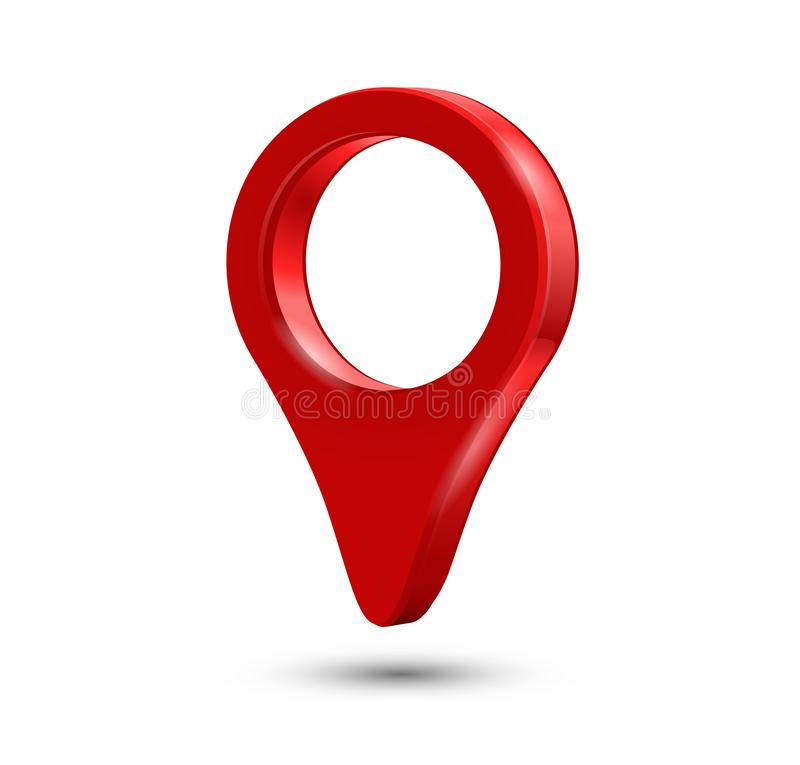 Red pin marker - geo location destinaton point concept stock photos