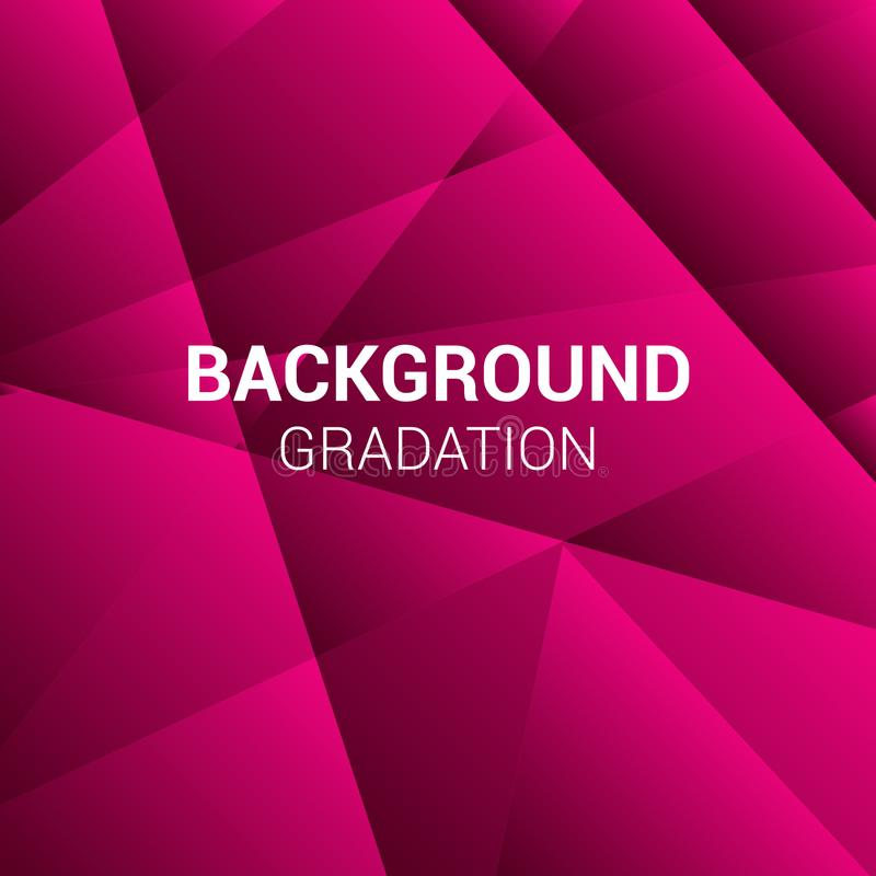 Red and Pink Background tiled gradation illustrated vector image like waves stock image