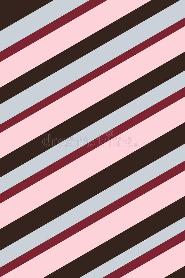 Red, Pink and Black Striped Background Texture. Red, pink, and black stripes create a Valentine`s Day feeling in this diagonally striped background vector illustration