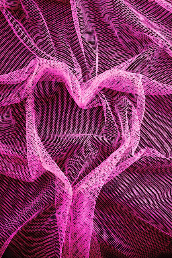 Red Pink Fabric Stock Photo